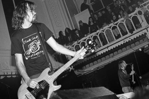 Nirvana photographed on stage at The Paradiso in Amsterdam.
