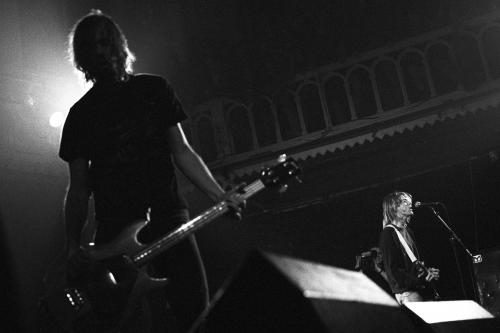 Nirvana performing on stage in Amsterdam