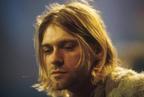 Kurt Cobain of Nirvana during the taping of MTV Unplugged at Sony Studios in New York City