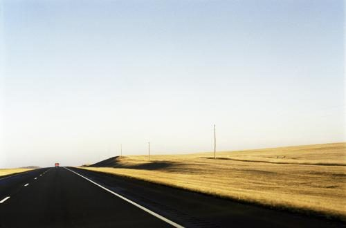 A North Dakota road photographed by Chris Floyd.