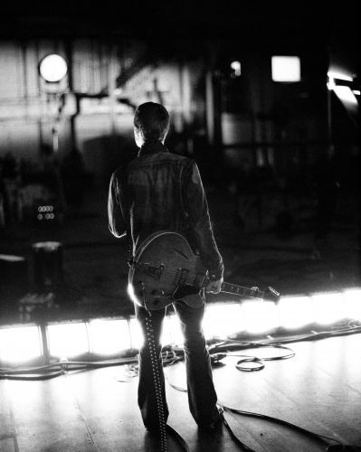 "Noel Gallagher on the set of ""The Hindu Times"" video filmed at Abbey Road Studios in London"