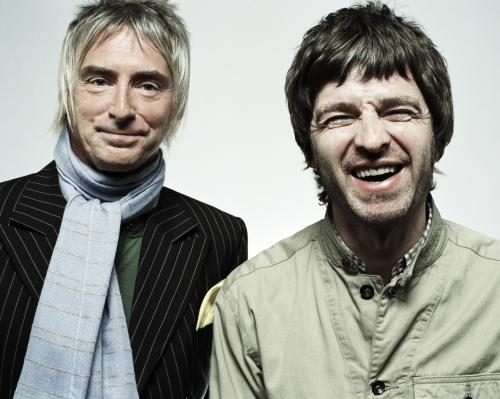 Noel Gallagher and Paul Weller photographed by Chris Floyd