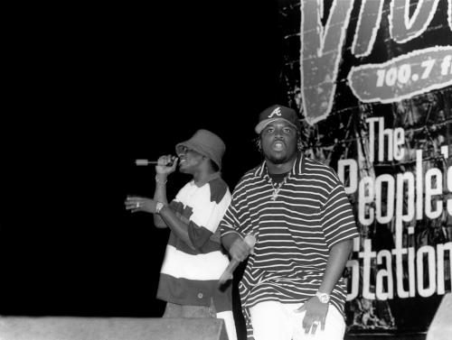 Outkast performing on stage