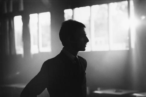 Paul Weller in silhouette. March 1984.