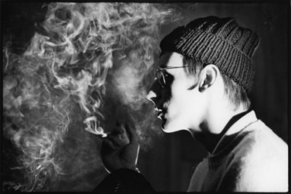 Paul Weller in a cloud of cigarette smoke - London 1983.
