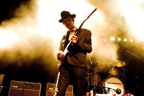 Pete Doherty on stage with Babyshambles at the Forum in London