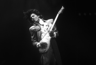 Prince performs live at the Fabulous Forum in Inglewood, California.