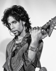 Prince during a photoshoot at Paisley Park in 1999.