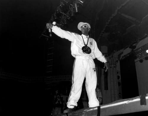 Flavor Flav of Public Enemy performs at Joe Louis Arena in Detroit