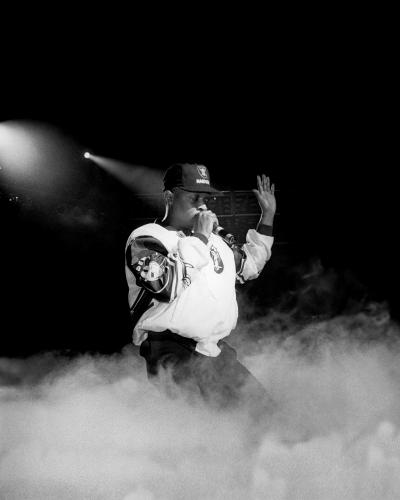 Chuck D. of Public Enemy performs at Joe Louis Arena in Detroit