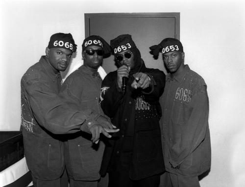 R. Kelly (2nd right) And Public Announcement (Earl Robinson