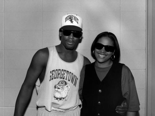 Singer R. Kelly and rapper and radio personality Monie Love