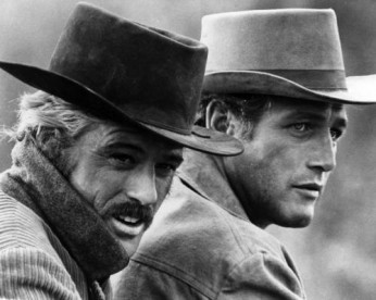 """Butch Cassidy (Paul Newman) and the Sundance Kid (Robert Redford) in a scene from the movie """"Butch Cassidy And The Sundance Kid"""" which was released on October 24"""