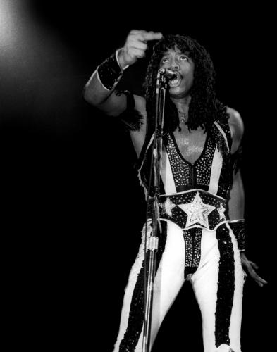 Rick James on stage