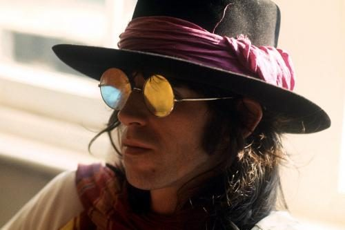 Keith Richards of the Rolling Stones poses in 1969 in a hat and sunglasses Sonic Editions print