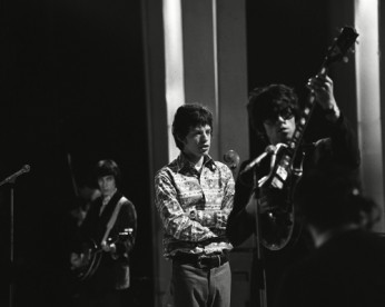 The Rolling Stones - Bill Wyman, Mick Jagger and Keith Richards 'Sunday Night at the London Palladium' TV Programme.