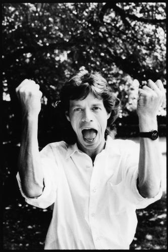 Mick Jagger photographed in Chelsea Physics Garden