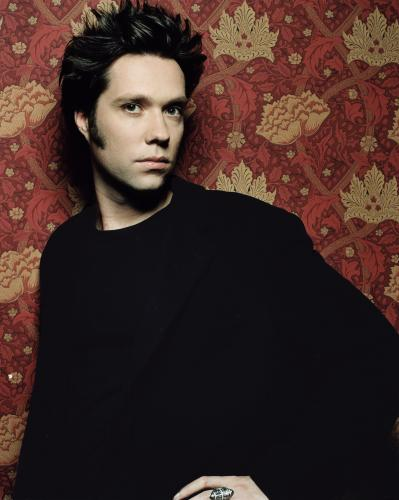 Rufus Wainwright photographed in England during the late 1990s.