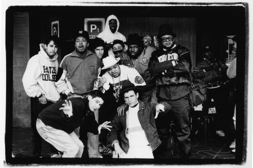The Beastie Boys and Run DMC photographed in Berlin