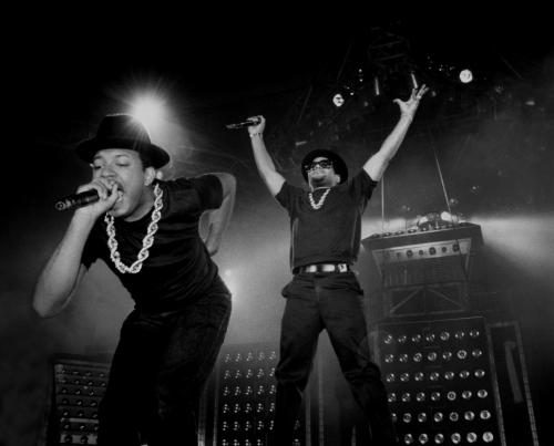 Run DMC performing live on stage