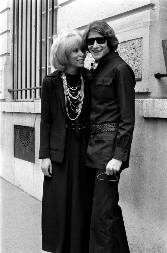 Mireille Darc And Yves Saint Laurent Sonic Editions