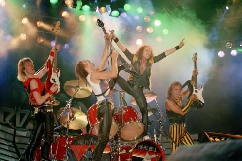 Scorpions at the Los Angeles Forum April 25 1984 by Marc Canter.