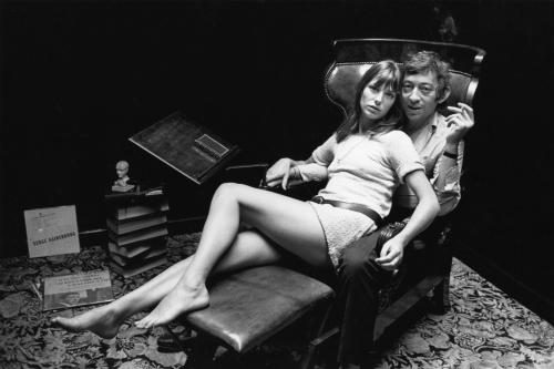 English actress Jane Birkin and French singer-songwriter Serge Gainsbourg