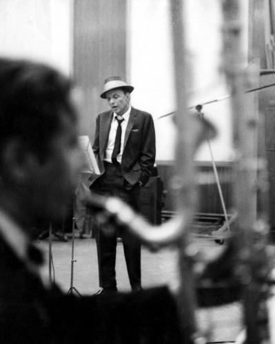 Frank Sinatra photographed in the studio in 1964 Sonic Editions print
