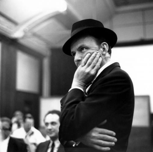 Frank Sinatra in the studio