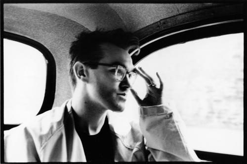 Morrissey in the back of a cab