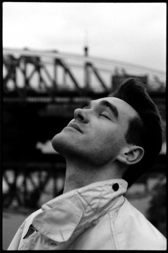 The Smiths lead singer Morrissey stands by the canal in Salford