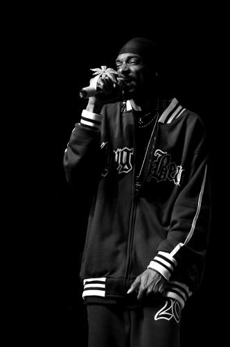 Snoop Dogg perfoming at the Greek Theatre in Los Angeles