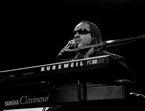 Singer Stevie Wonder performs at the Arie Crown Theater in Chicago