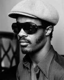 Stevie Wonder in London. He is pictured at the Royal Garden Hotel during a visit to promote his latest single, Superstition, and to appear on a Burt Bacharach TV special, recorded in London.