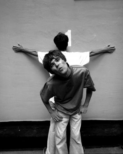 Ian Brown and John Squire of The Stone Roses at the YMCA in London 1989.