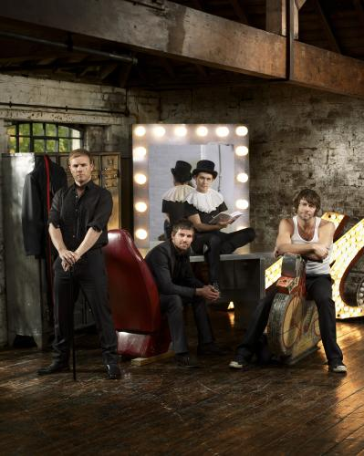 Take That photographed by Chris Floyd in 2008.