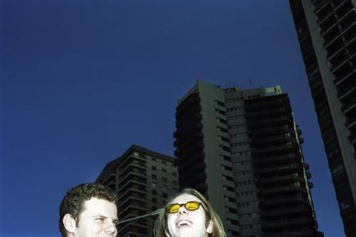 The Chemical Brothers photographed in Buenos Aires by British photographer Chris Floyd.