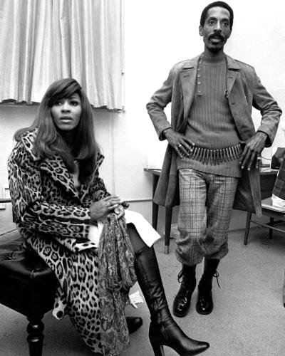 Ike & Tina Turner photographed in their dressing room