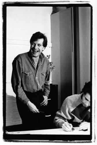 Tony Wilson photographed by Peter Anderson.
