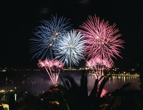 C̫te d'Azur fireworks display photographed by Chris Floyd.