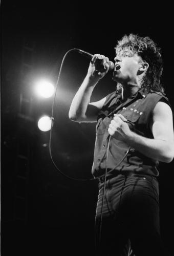 Bono photographed by Janet Macoska in 1983.