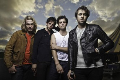 The Vaccines backstage at Leeds Festival 2011.