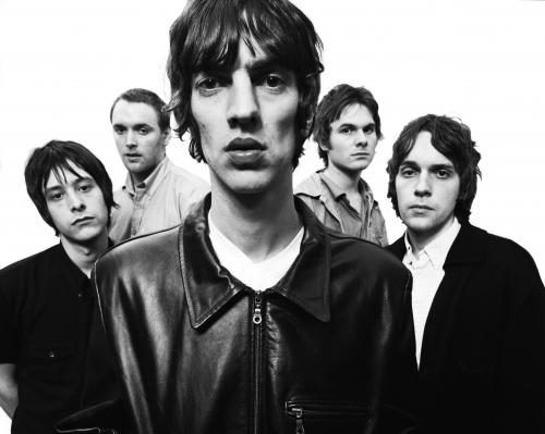 The Verve photographed for the cover of Urban Hymns in 1997.