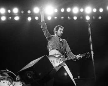 Pete Townsend performing with The Who at the Seattle Centre Coliseum.