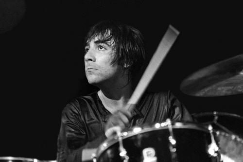 Keith Moon on stage with The Who in Detroit