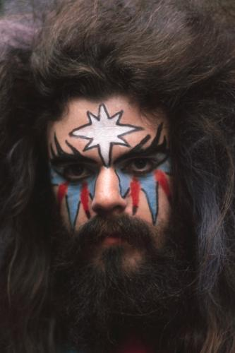 Roy Wood of Wizzard in his customary face paint and wild hair