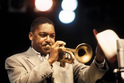 Wynton Marsalis photographed on stage
