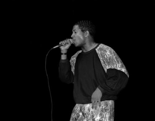Young MC photographed on stage